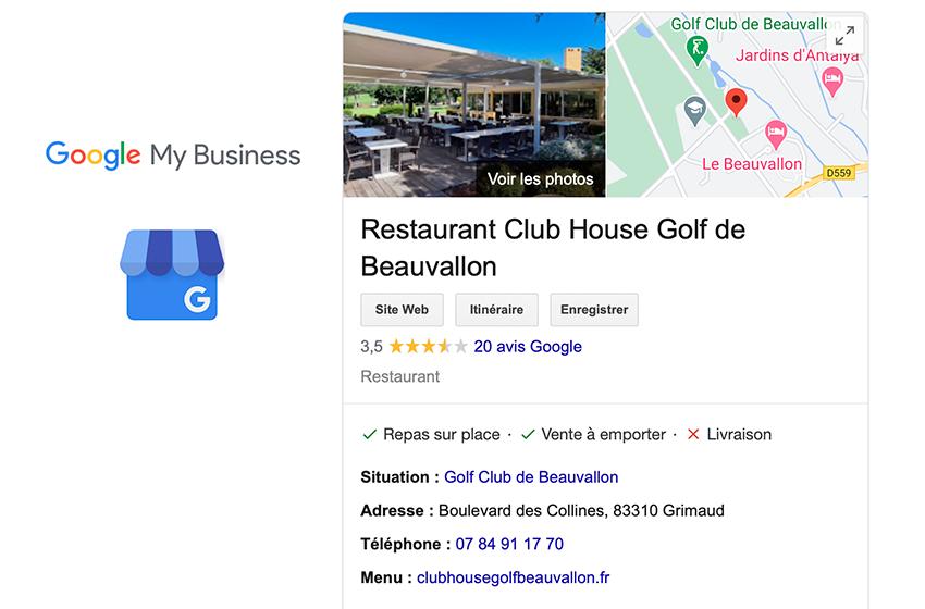 digykan - portfolio communication digitale - referencement visuel Club House Golf de Beauvallon
