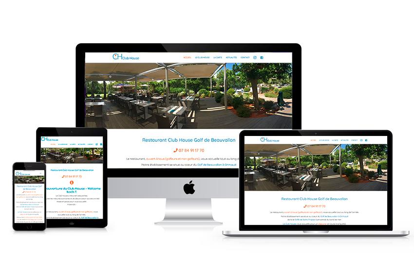 digykan portfolio webdesign Club House golf de Beauvallon