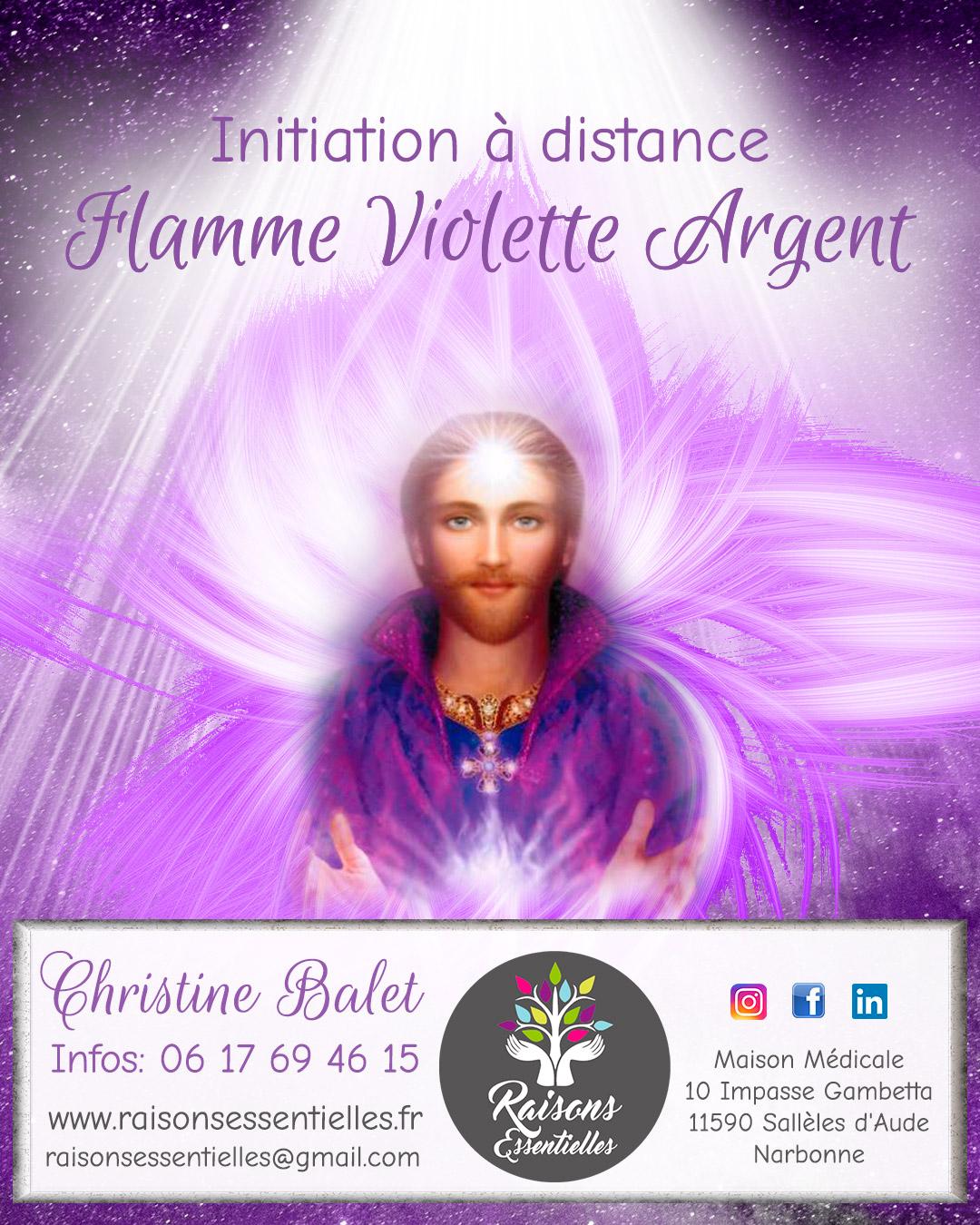 digykan - création bannière - Raisons Essentielles Christine Balet - initiation Flamme Violette Argent