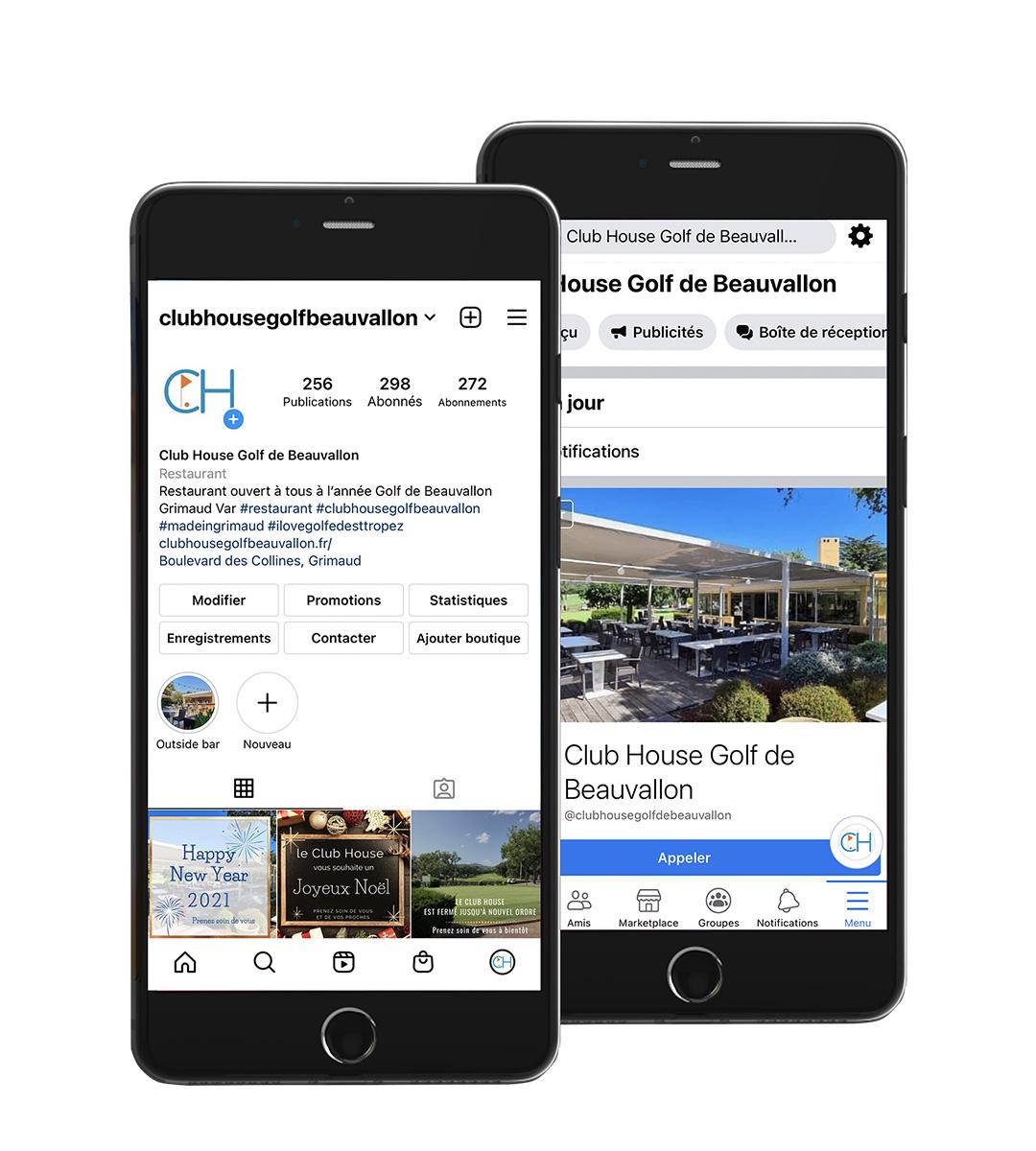 digykan - communication digitale réseaux sociaux Club House Golf de Beauvallon visuel